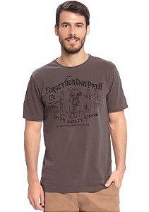 Camiseta Masculina Estonada com Estampa