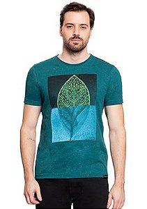 Camiseta Masculina Com Estampa De Folha