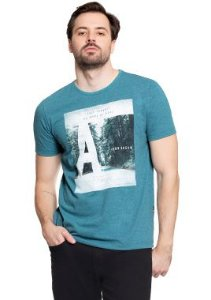 Camiseta Masculina com Estampa Inspiradora