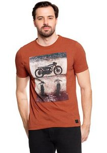 Camiseta Masculina com Estampa Motorcycle