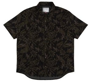 Camisa Plus Size Masculina Full Print - Preta