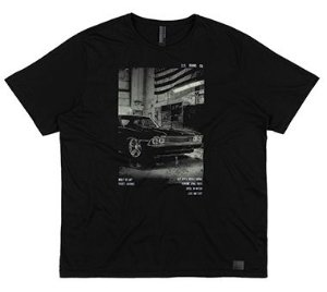 Camiseta Plus Size Masculina c/ Estampa Vintage