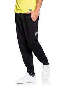 Calça Masculina Jogger em Moletom com recorte larteral