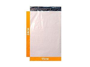 Envelope Plástico Express com Lacre de Segurança  - Branco 15x24cm | 15 x 24 cm