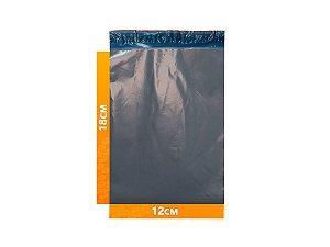Envelope Plástico Express com Lacre de Segurança  -  Cinza 12x18cm | 12 x 18 cm