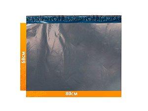 Envelope Plástico Express com Lacre de Segurança  - Cinza 80x58cm | 80 x 58 cm