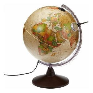 Globo Terrestre Luminoso - Marco Polo Antigo - 30cm - Tecnodidata