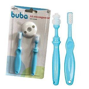 Kit Massageador de Dente - com Escudo - Azul - Buba