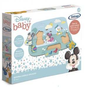 Quebra-Cabeça Encaixe - Disney Baby - Turma do Mickey - Xalingo