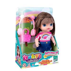 Boneca Influencer - Loira - Baby's Collection - Super Toys