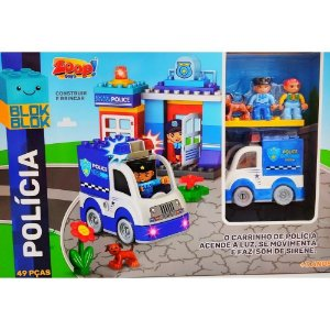 Blocos de montar BlokBlok Policia - Zoop Toys