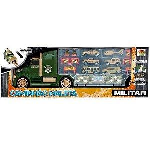 Caminhão Maleta De Veículos Militar - Dm Toys