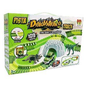 Pista Dinossauro Track - Com Túnel e Acessórios - DM Toys