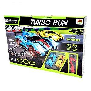 Auto Pista Turbo Run - Circuito 3 Formatos - DM Toys