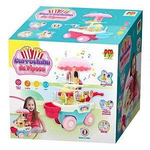 Carrocinha de Pipoca Bate e Volta Musical - DM Toys