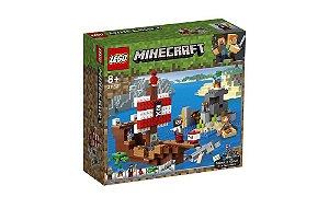 Lego Minecraft - A Aventura do Barco Pirata - 386 peças - LEGO