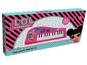Teclado Musical Infantil - Com luz - Lol Surprise - Candide