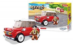 Blocos para Montar Retrô - Mini Carro - 150 peças - XALINGO