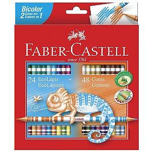 Lápis de Cor Bicolor - 48 Cores - Faber Castell