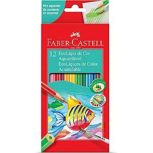 Lápis de Cor Aquarelável - 12 Cores - Faber Castell