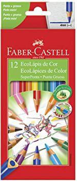 Lápis De Cor - Super Ponta - 12 Cores - Faber Castell