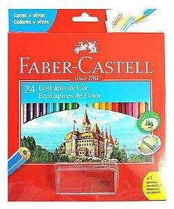 Lápis De Cor - Sextavado - 24 cores - Faber Castell