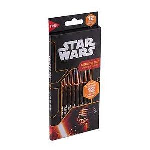 Lápis De Cor - Star Wars - 12 Cores - Tris
