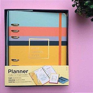 Planner Allegro Argolado - Tamanho A5 - com Caixa Organizadora - Ótima Gráfica