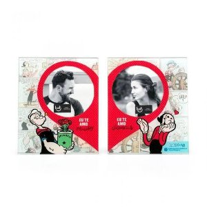 Porta Retrato Duplo - Popeye e Olivia - Ludi