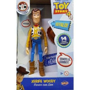 Boneco Woody - 14 frases - Toy Story 4  - Toyng