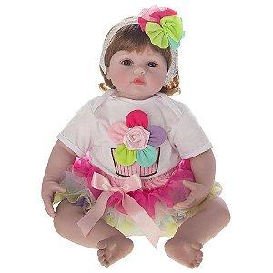 Bebê Reborn Laura Baby - Flora - Shiny Toys