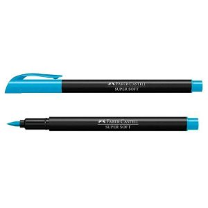 Caneta Brush - Supersoft - Azul - Faber Castell