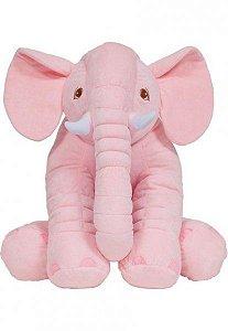 Pelúcia Almofada Elefante - Gigante - Rosa - Buba