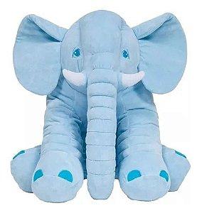 Pelúcia Almofada Elefante - Gigante - Azul - Buba