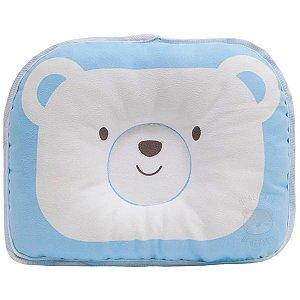 Travesseiro Anatômico para Bebê - Azul - Buba
