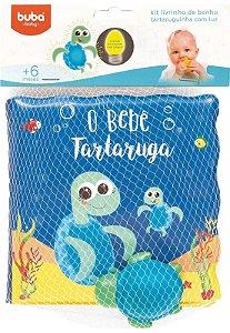 Kit Livrinho de Banho - Tartaruguinha - com Luz - Buba