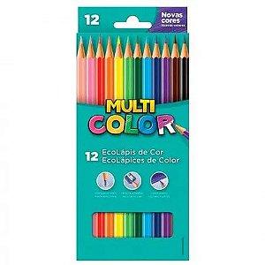 Lápis De Cor - 12 cores - Multicolor