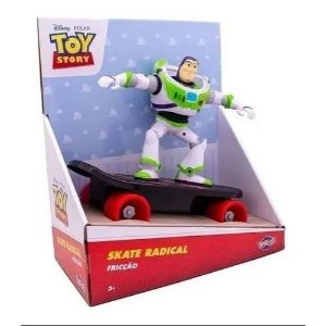 Boneco Buzz Lightyear - Skate Radical - Fricção - Toyng