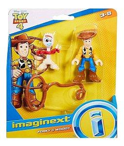 Bonecos Garfinho e Woody - Toy Story 4 - Imaginext - Mattel
