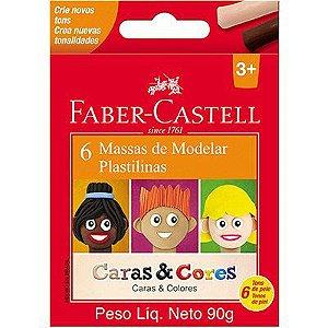 Massa de Modelar - Caras e Cores - 6 Unidades - Faber Castell
