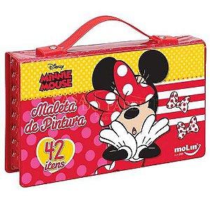 Maleta de Pintura - Minnie Mouse - 42 Itens - Molin