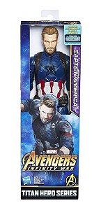 Boneco Capitão América - Guerra Infinita - Hasbro