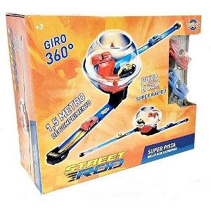 Super Pista Street Rod - Giro 360 - Com 2 Carrinhos - Toyng