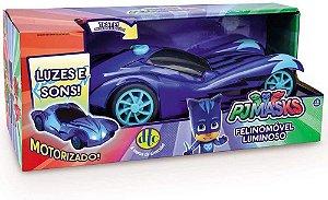 Veículo Felino Móvel - com Som e Luz - Pj Masks - DTC
