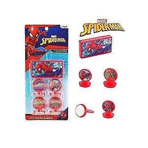 Carimbo com Carimbeira - Homem Aranha - 4 unidades - Etipel