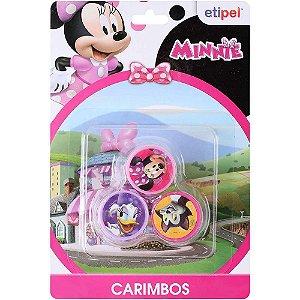 Carimbo Auto Entintado Minnie - 3 unidades - Etipel