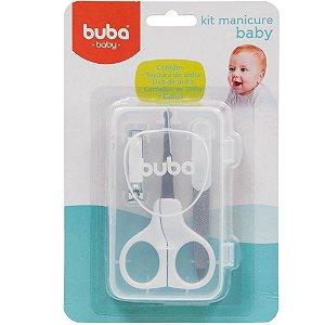 Kit Manicure Baby - com Estojo - Branco - 3 Peças - Buba