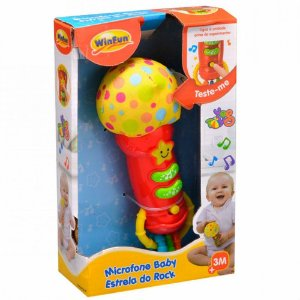 Microfone Baby - Estrela do Rock - YesToys