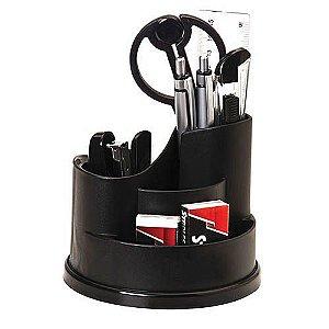 Organizador de Mesa - Preto - Completo com 10 itens - Molin