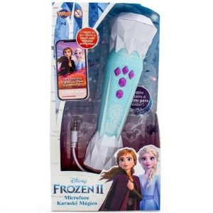 Microfone Karaokê Mágico - Frozen II - Toyng